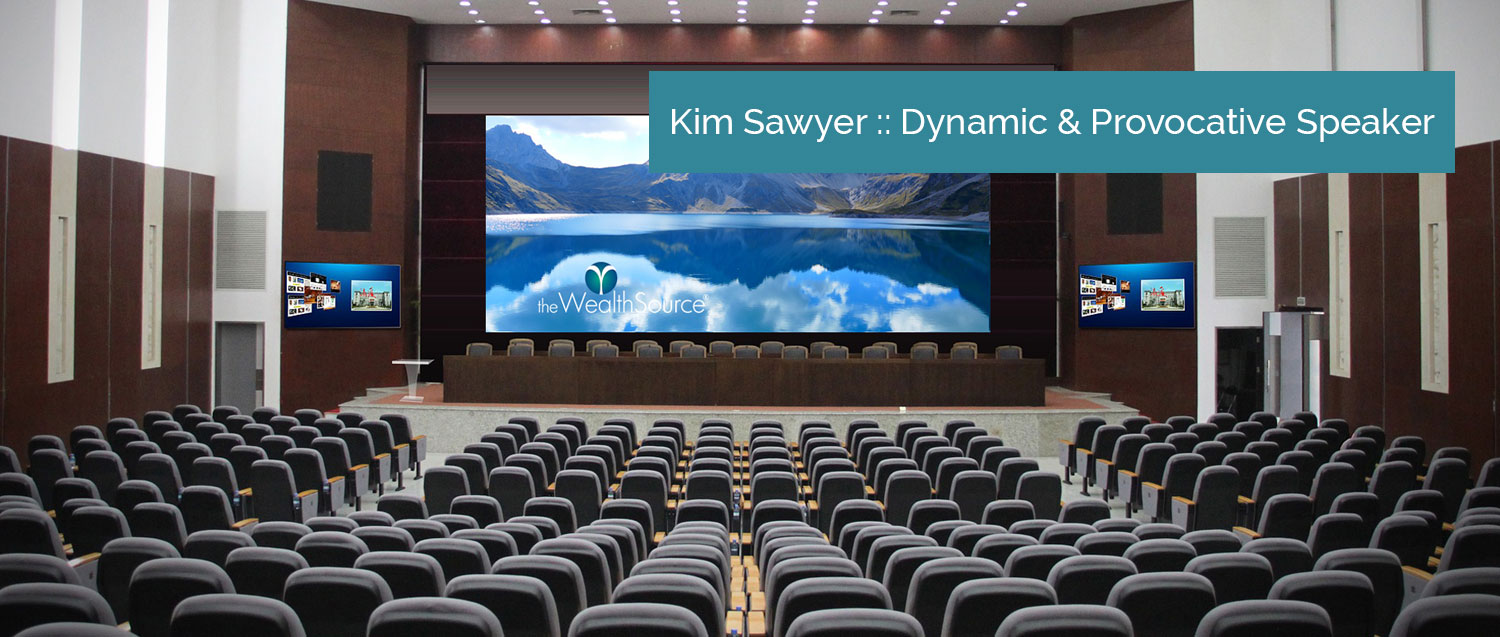 Kim Sawyer Keynote Speaker auditorium photo